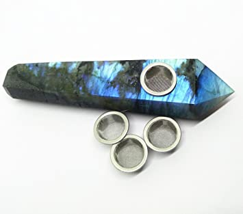 Amazon com: Natural Labradorite Crystal Healing Smoking Pipe