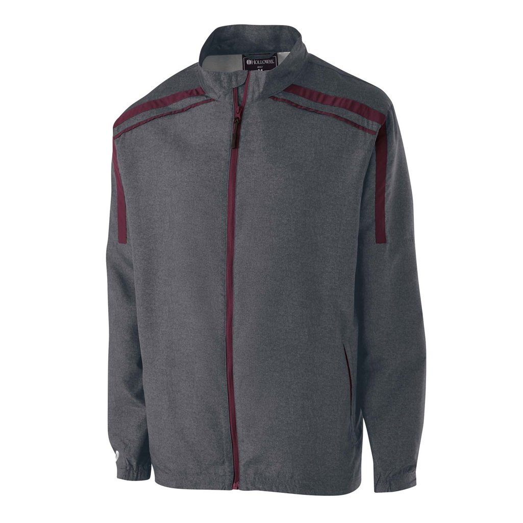 Holloway Raider Youth Lightweight Jacket (Small, Carbon Print/Maroon) by Holloway