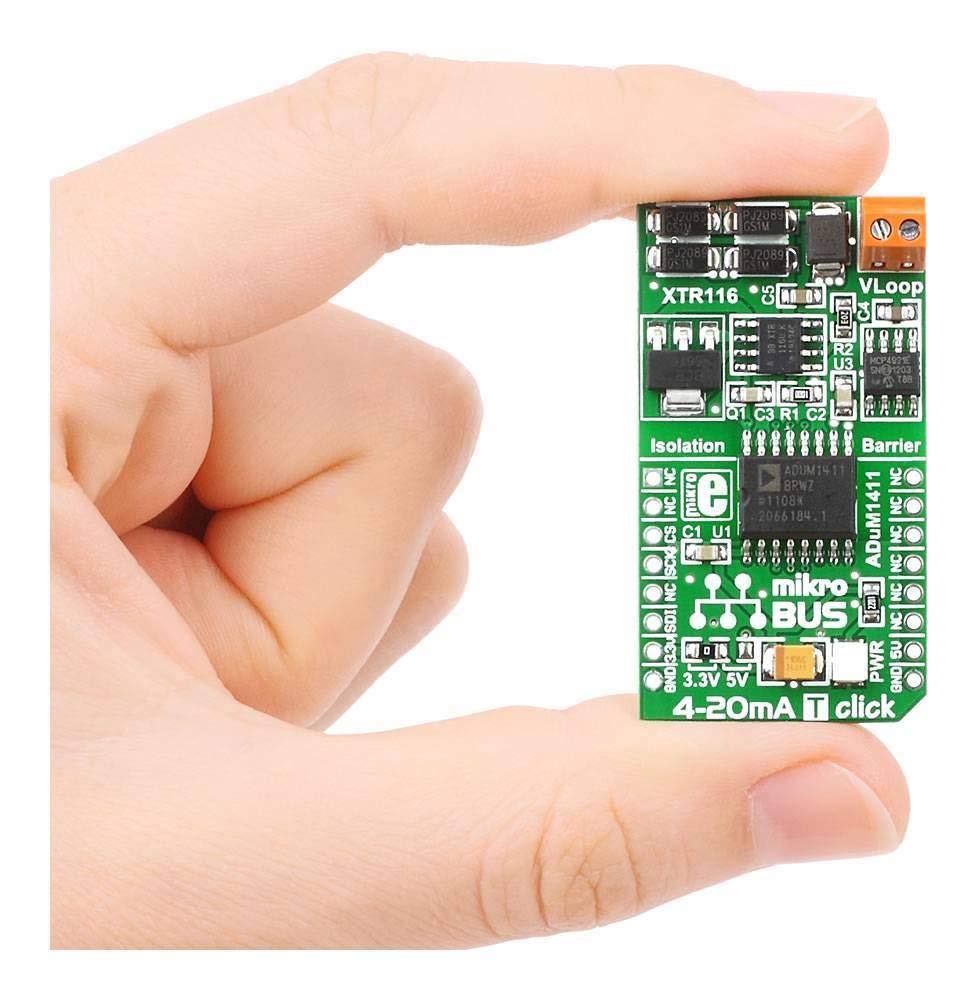 Mikroelektronika Ltd 4 20 Ma T Click Board Computers Computer Controlled 20ma Current Loop Accessories