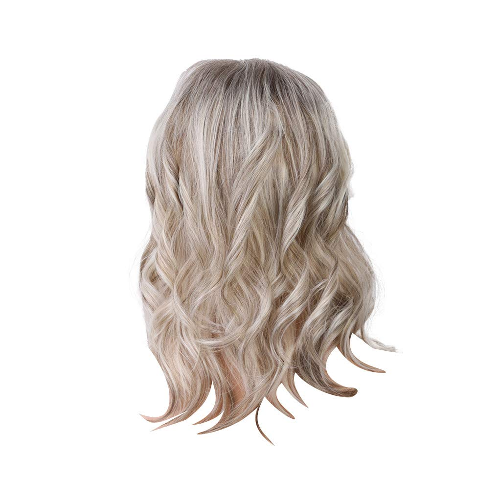 Wig,SUPPION High Quality Mixed Colour Long Curly Wigs Real Human Hair Fashion Women Wigs - 14 inch - Cosplay/Party/Costume/Carnival/Masquerade (Mixed Colour)