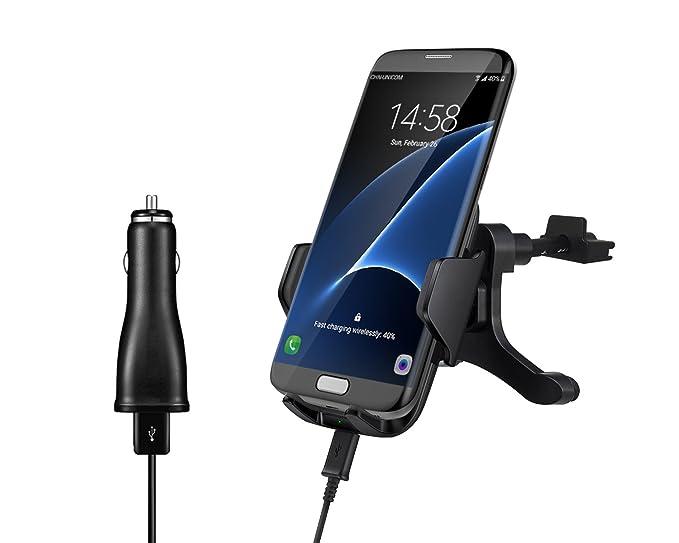 IPOWKING Qi - Cargador de Coche inalámbrico para Samsung ...