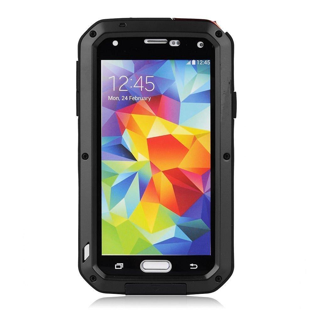 Galaxy S5 Case,Mangix Gorilla Glass Luxury Aluminum
