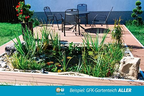 B&M Polypool GFK - Estanque para jardín (4600 L, 410 x 260 x 140 cm), color negro: Amazon.es: Jardín