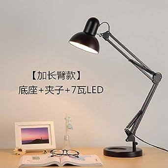 Lámpara de mesa Lámpara de escritorio LED Tapa de ojos Brazo largo ...