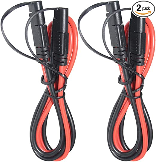 SAE Extension Cable for Battery Harness to Charger 10AWG 3Ft//1M 2 Pin SAE