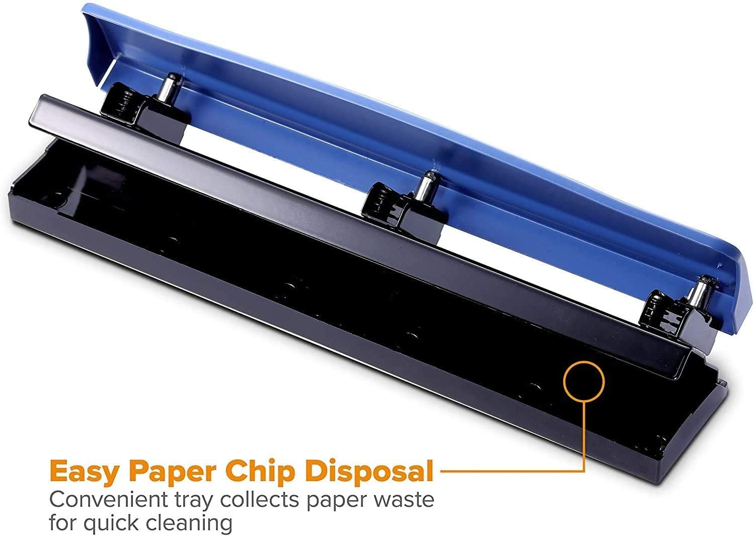 12 Sheets KT-HP12-BLUE Bostitch 3 Hole Punch Navy Blue