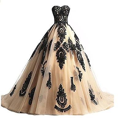 Cloverbridal Damen Ballkleider Prinzessin Lang Prom Kleider ...