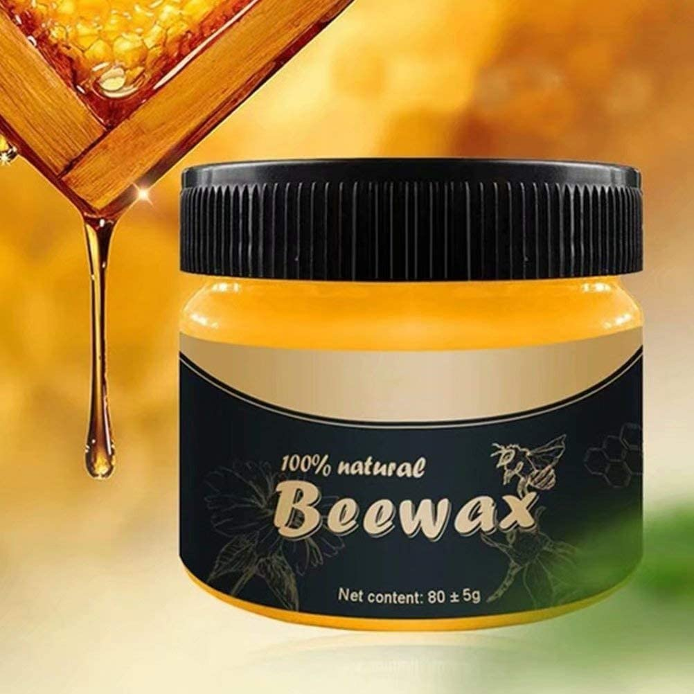 Wood Seasoning Beewax Traditional Beeswax Polish for Wood & Furniture Natural Beewax Wood Wax Preservative Conditioner Protectant Home Cleaning for Wood Cleaner and Polish Wipes