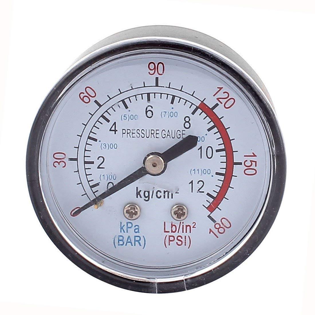 Manómetro compresor neumático hidráulico fluido 0-180PSI Gauge
