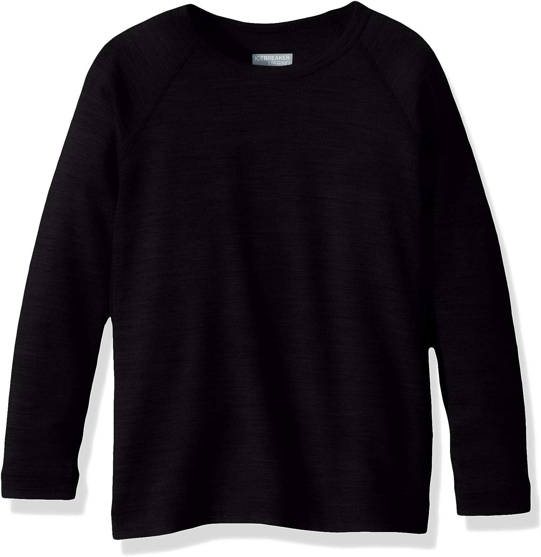 Icebreaker Merino Kids Oasis Year-Round Base Layer Long Sleeve Crew Neck Shirt Merino Wool