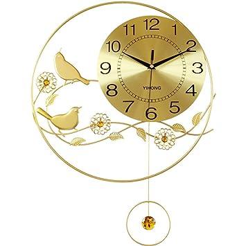 Relojes Reloj de pared Reloj creativo de dibujo personalizado decorado hierro silencio gráfico de pared Reloj de cuarzo: Amazon.es: Hogar