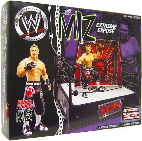 WWE Wrestling Ring Exclusive The Miz Extreme Expose Ring with Exclusive The Miz Action Figure by Jakks