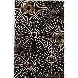 Surya Forum FM-7090 Contemporary Hand Tufted 100% Wool Coal Black 2'6'' x 8' Geometric Runner
