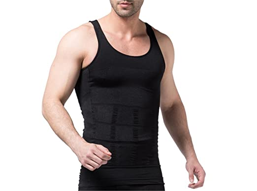 29d4e5d0dd Amazon.com  Men Slimming Underwear Body Shaper Waist Cincher Corset Men  Shaper Vest Body Slimming Tummy Belly Slim Body Shapewear  Clothing