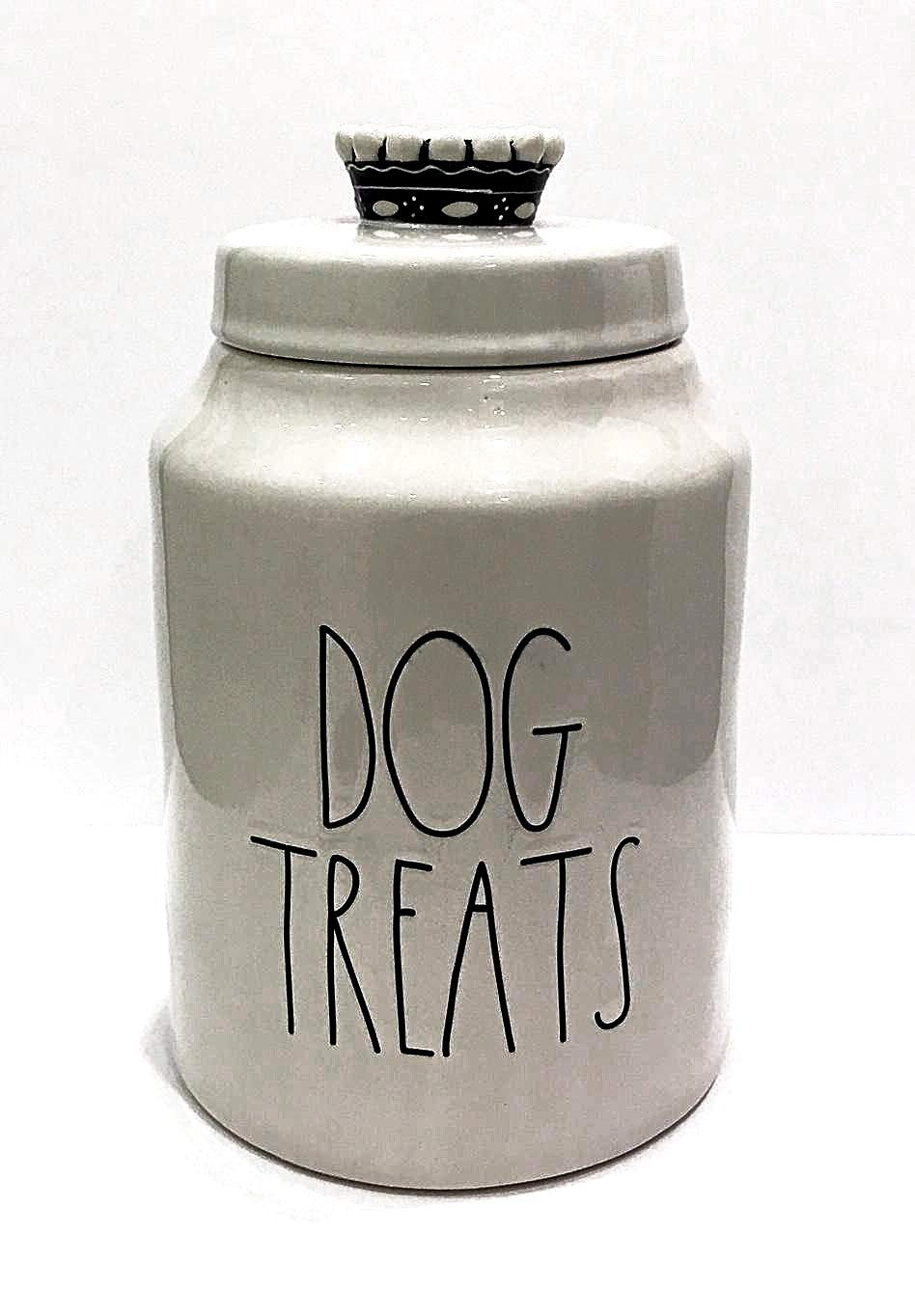 Rae Dunn Magenta Ceramic Canister Dog Treats Crown Top Pet Canister