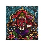 Bangle009 Holy Indian Elephant Deity Ganesha Wall Painting Picture Frameless Art Decor