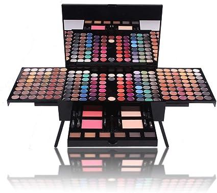 MWJK® Sombras de Ojos Kit, 180 colores paleta de sombra de ojos Profesional eyeshadow palette Paleta de Maquillaje Cosmética con Color Cálido y Frío Maquillaje Set Maquillaje Profesional Caja: Amazon.es: Belleza