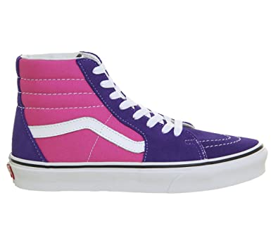 0d0fcef2f36fda Vans Sk8 Hi Deep Blue Hot Pink - 5 UK  Amazon.co.uk  Shoes   Bags
