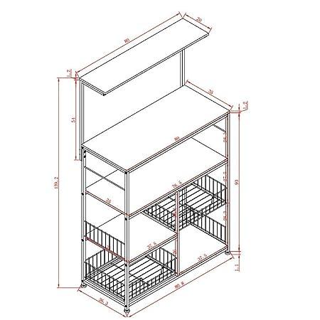 Mesa de pared, mesa de diseño creativo, estantería, cocina de pie ...