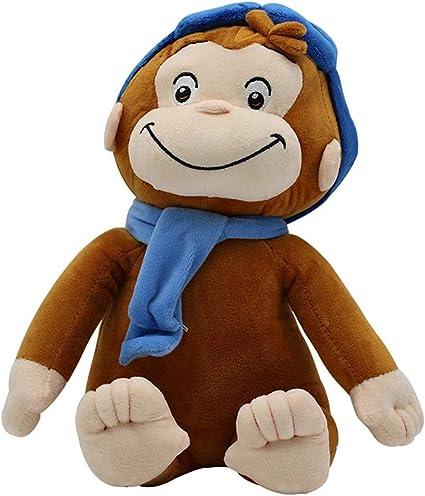 Liaiqing Jorge el Curioso Jorge el Curioso niños Almohada Linda del Mono de Felpa muñeca de Juguete (Color : Natural): Amazon.es: Hogar