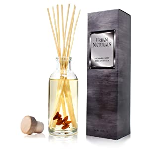 Urban Naturals Bay Rum & Sandalwood Reed Diffuser Scent Sticks Gift Set | Powdery Bay Rum, Sandalwood, Earthy Patchouli & Musk | A Bold, Spicy, Masculine Scent | Smells Like an Old Time Barber Shop