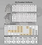 Men Military Airsoft Paintball BDU Uniform Combat Gen3 Tactical Uniform with Knee Pad Multicam MC