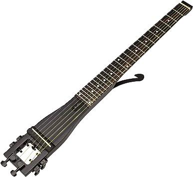 D2D Anygig Guitarra acústica 6 diapasón para Zurdos 25.5 Negro ...