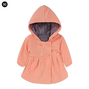 myonly - Abrigo con Capucha para bebé (6 Meses a 3 años), Rosa Oscuro, 1 a 2 años: Amazon.es: Hogar