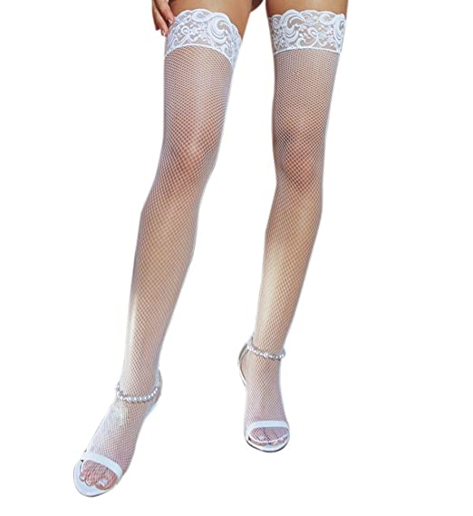 1441e44ca8b Image Unavailable. Image not available for. Color: Stay Up Fishnet Thigh  Highs ...