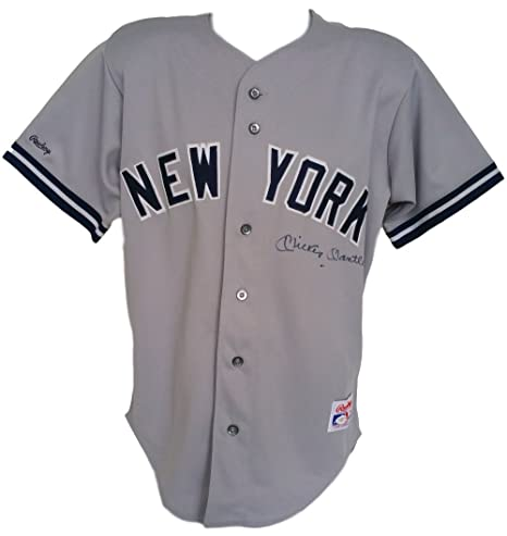 info for 9a683 284f7 Mickey Mantle Signed New York Yankees Gray Rawlings Jersey ...