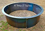 Cheap Steel Fire Pit-Ring Liner 2″ Top Flange 36″ x 14″