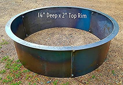 """Steel Fire Pit-Ring Liner 2"""" ... - Amazon.com : Steel Fire Pit-Ring Liner 2"""