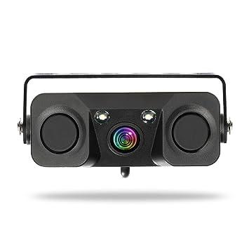 Cámara de Visión Trasera Del Automóvil Sistema de Indicador de Alarma de Audio de Copia de Seguridad Sistema 3-en-1 Espejo Retrovisor Inversión Visual