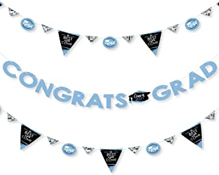 product image for Big Dot of Happiness Light Blue Grad - Best is Yet to Come - 2021 Light Blue Graduation Party Letter Banner Decoration - 36 Banner Cutouts and Congrats Grad Banner Letters