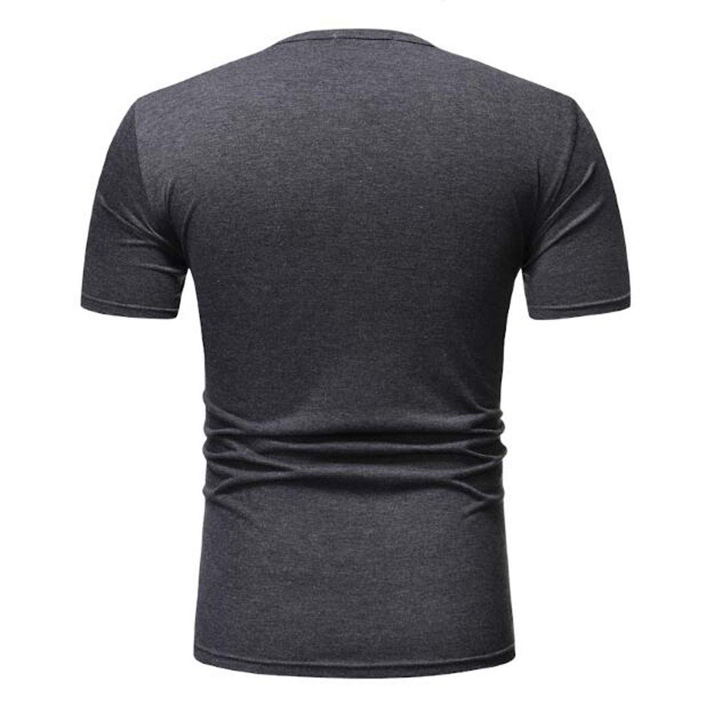 Amazon.com: YKARITIANNA Mens Casual Splice Zipper Summer Fit Sport Short Sleeve Shirt Blouse Tops 2019: Clothing
