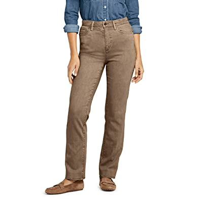 Lands' End Women's High Rise Straight Leg Jeans - Color at Women's Jeans store