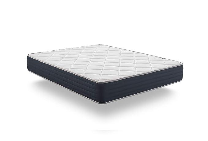 Naturalex Colchón Aura - Núcleo tecnología HR Blue Latex - Viscoelastica Thermosoft - Reversible - 7 Zonas de Confort - 25 cm (150 x 190 cm): Amazon.es: ...