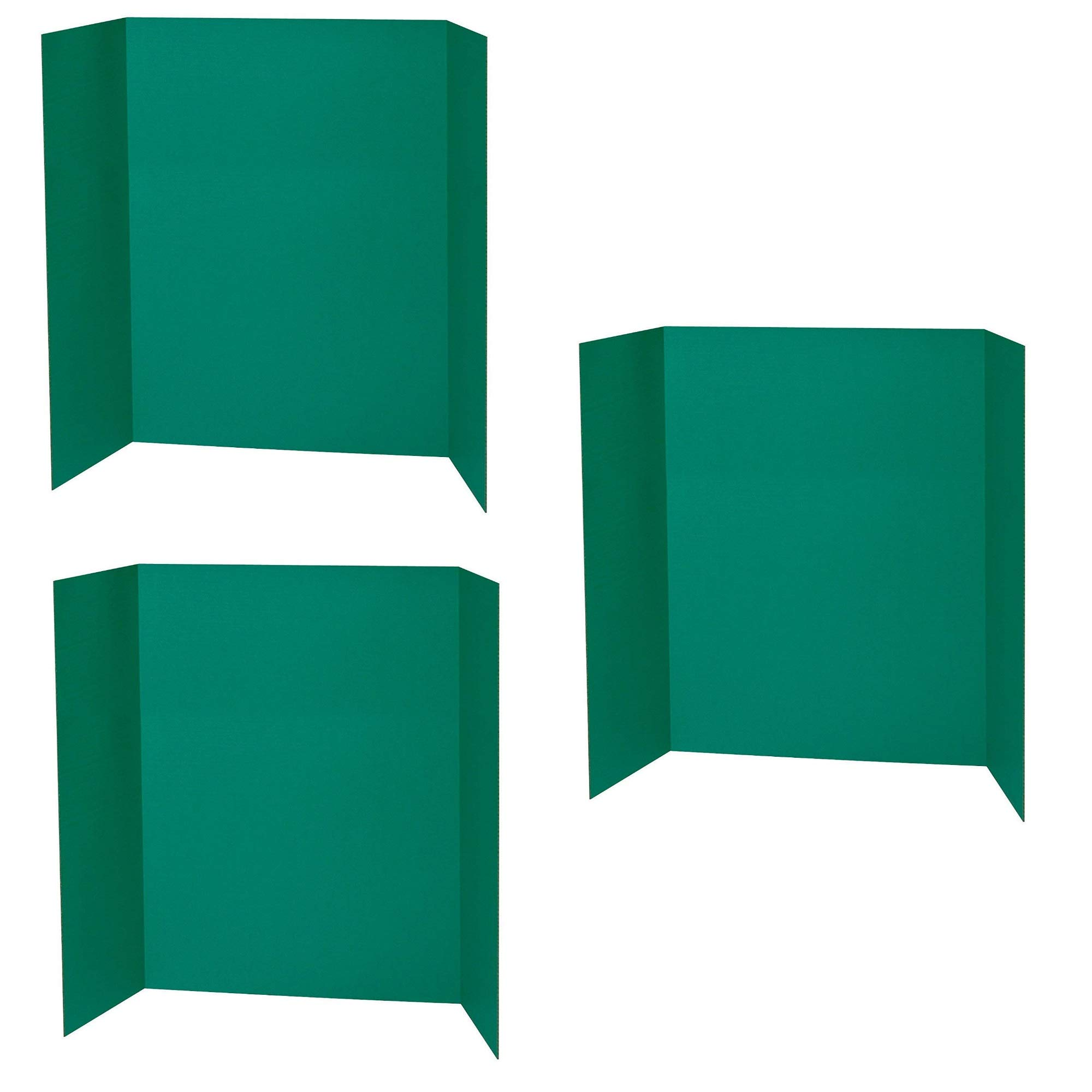 Spotlight 1 Ply Trifold Display Board, 48'' Width x 36'' Height, Green, 3 Pack