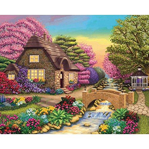 KODAK Premium Puzzles Dream Cottage Retreat Jigsaw Puzzle (1000 Piece) Cottage 1000pc Jigsaw Puzzle