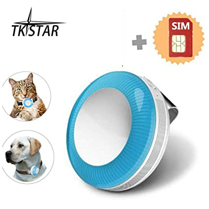 MUXAN TKSTAR Mini GPS Pet Tracker con Tarjeta SIM, GPS para ...