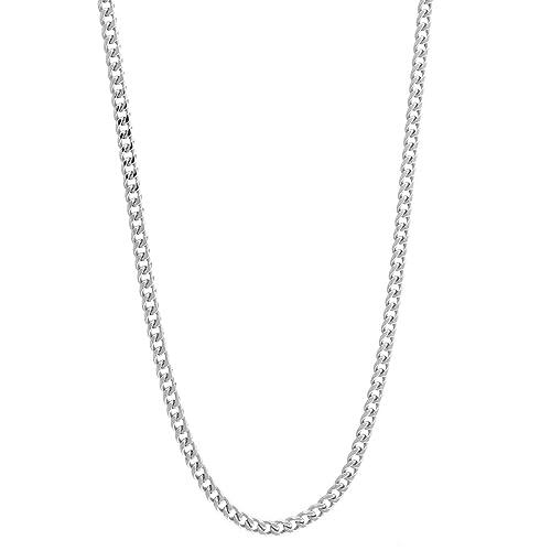 Latotsa Silberkette Sterling Silber 925 Panzer Kette Halskette Panzerkette Schmuck flach