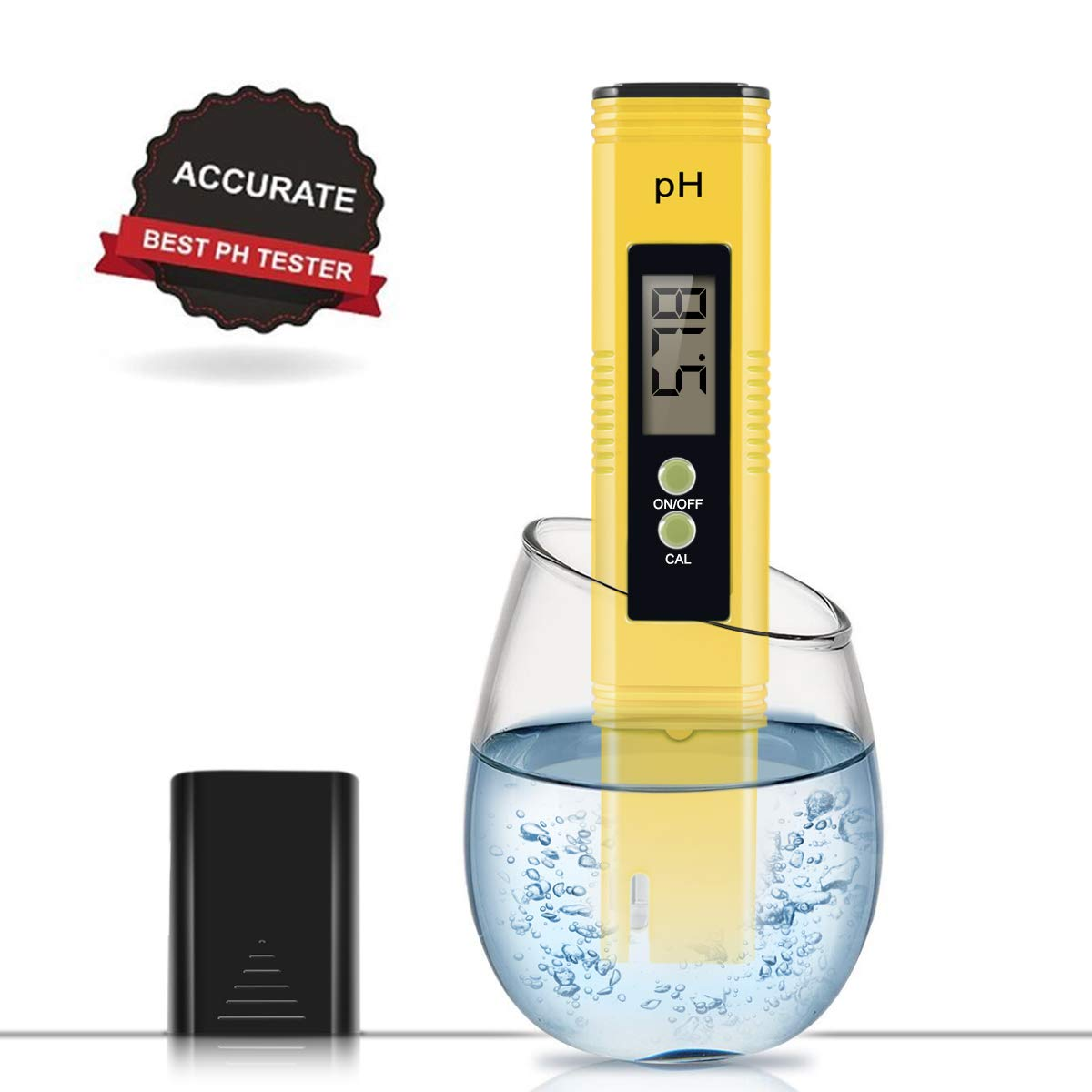 Digital PH Meter, PH Meter 0.01 Resolution Pocket Size Water Quality Tester with ATC 0-14 pH Measurement Range for Household Drinking Water, Aquarium, Swimming Pools, Hydroponics by Car Guardiance
