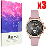 Lamshaw Michael Kors Runway Screen Protector, 9H Tempered Glass Screen Protector Michael Kors Access Runway Smartwatch (3 Pack)