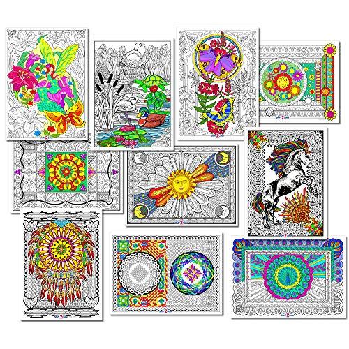 Stuff2Color Line Art Bundle - 10 Coloring Poster Pack I