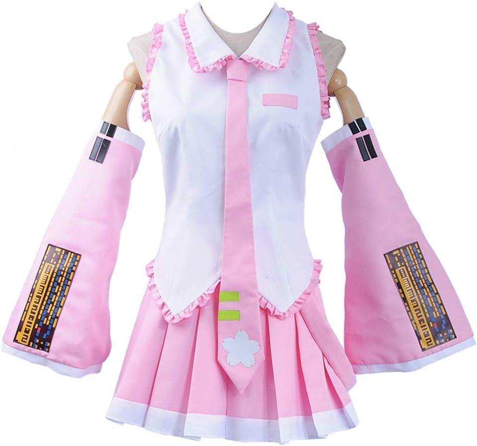 Cosplayfly Vocaloid Sakura Miku - Falda con Volantes para Disfraz ...