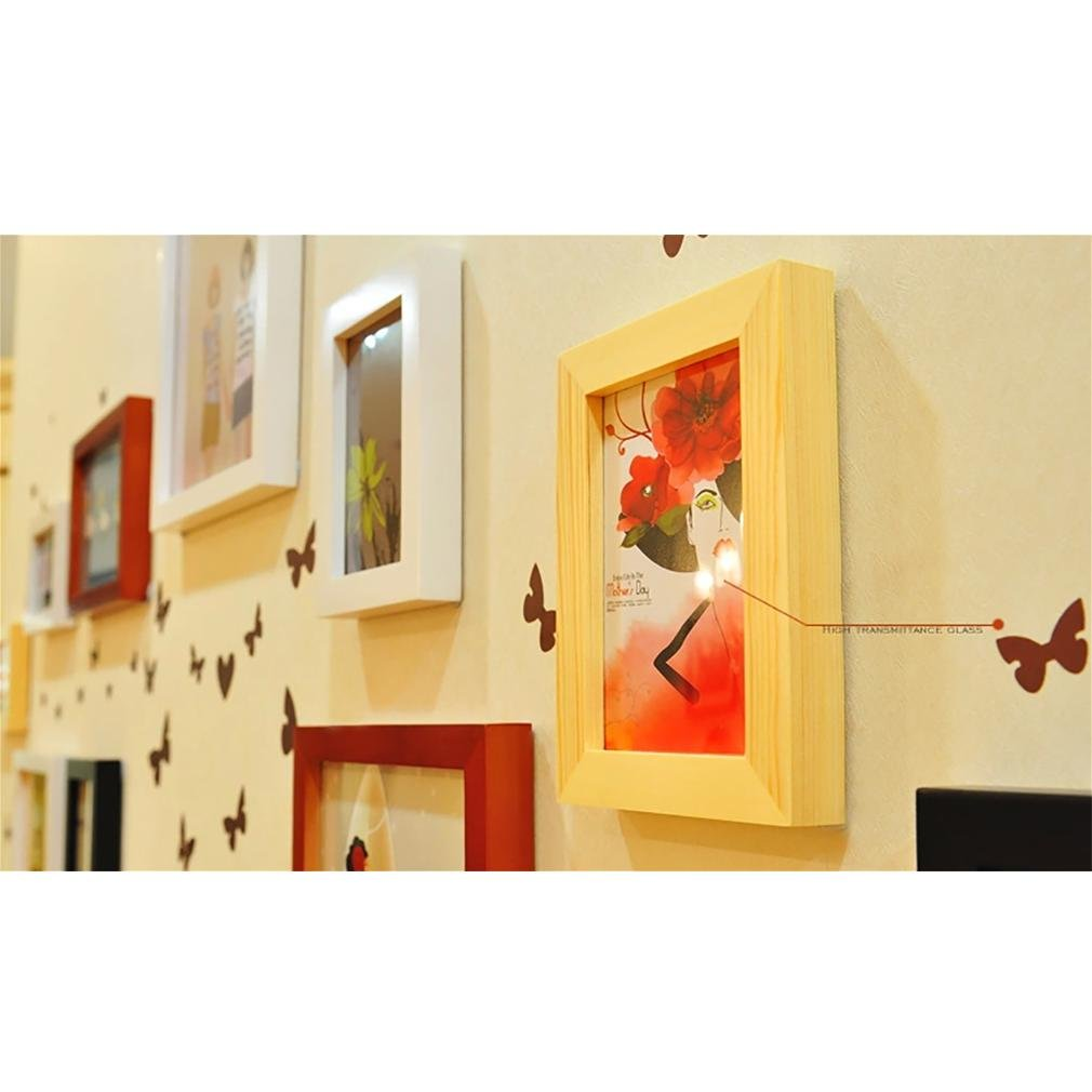 WillST Multi Picture Photo Frames Home Wall Decoration Wooden Frame Set Of 13pcs Picture by Unknown (Image #7)