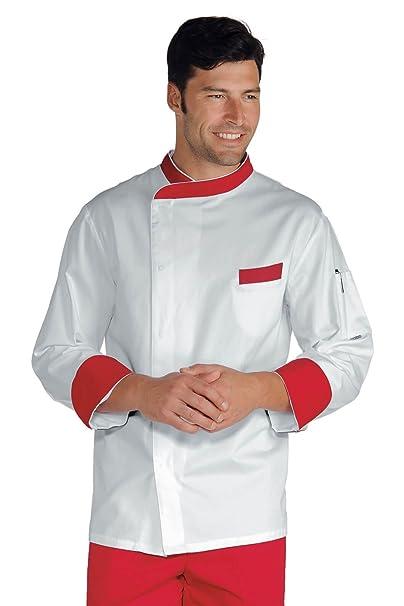 es Amazon Color Chaqueta De Cocina Y Blanco Isacco Durango Rojo nHRqxgwz8