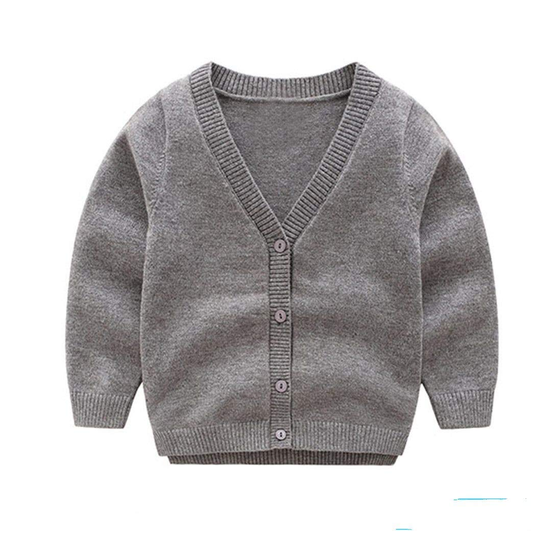 Santans Children Clothing Spring Autumn Boys Girls Knitted Sweater Kids Gray 3T by Santans