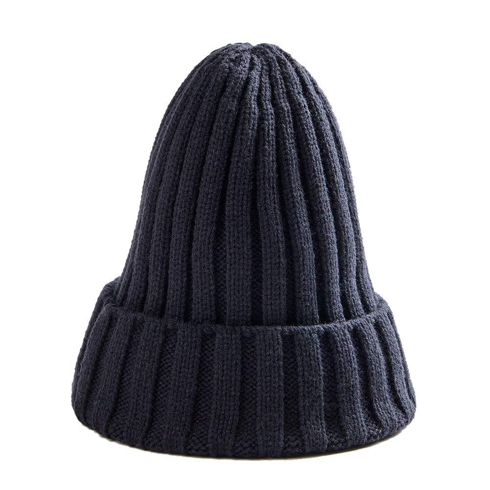 Winter Knit Beanie Cap Ski Hat Casual Hats Warm Caps for Men Women