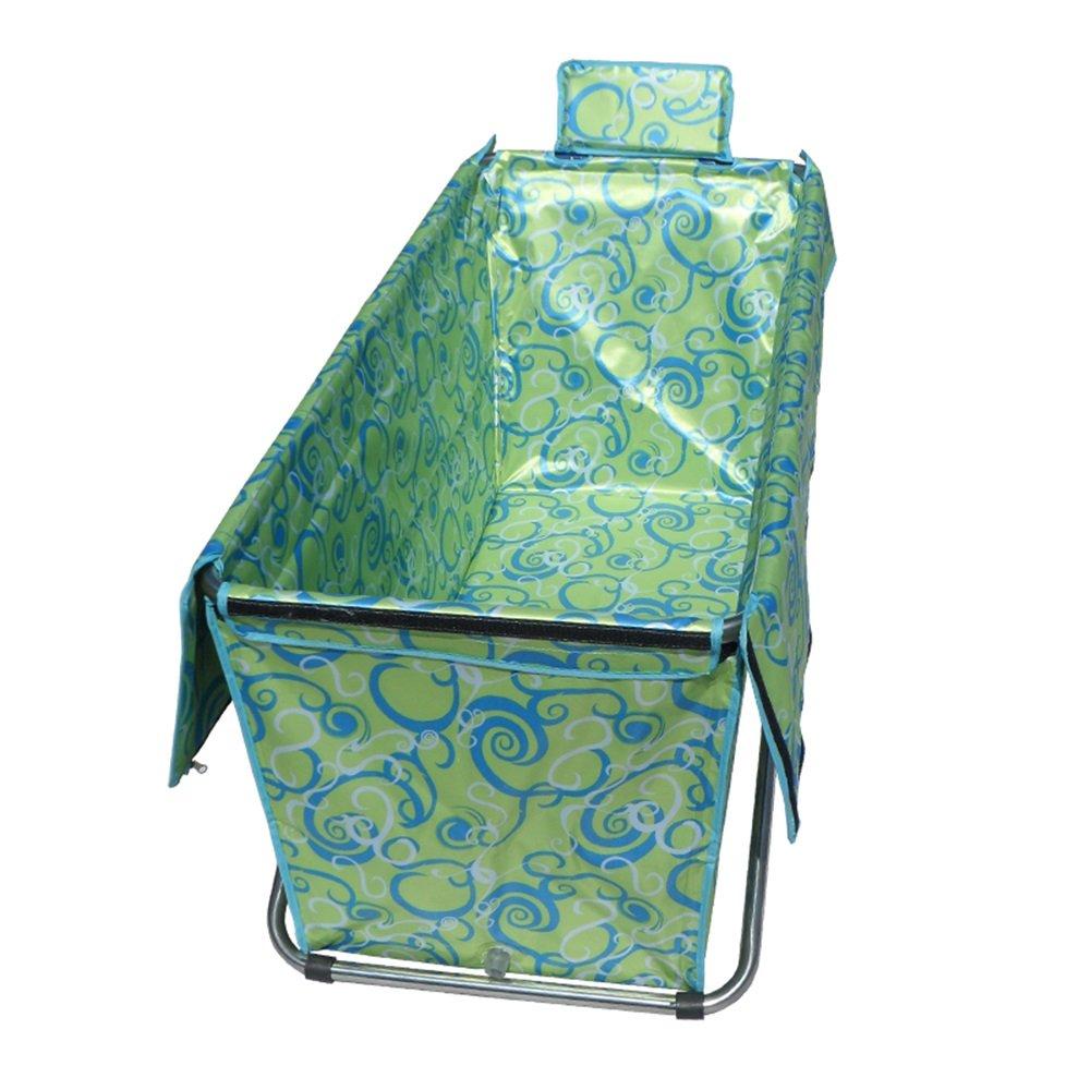 LXJYMX Falten Sie aufblasbares aufblasbares Bad des Erwachsenen Bades grüne Kinder - Tragbare Badewanne